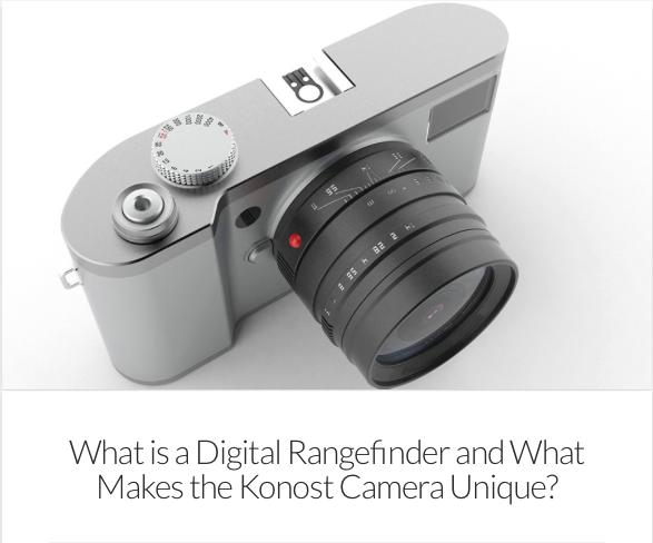 Konost FF – Nouvelle vision de l'appareil photo numérique